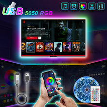 5V Bluetooth USB Led Strips Lights 2M 3M Luces Led 5050 RGB Desk Flexible LED Tape Diode Ribbon For Decoration Room TV Backlight