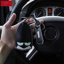 حافظة مفاتيح سوبر هيرو للسيارة كارتون حافظة مفاتيح السيارة حافظة مفاتيح من الجلد متعددة الوظائف حافظة مفاتيح اكسسوارات السيارات
