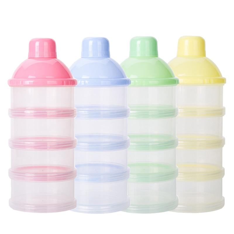 Baby Removable Milk Powder Storage Box Infant Four Grid Feeding Food Boxes Kid Toddler Portable Formula Dispenser Pote Hermetico