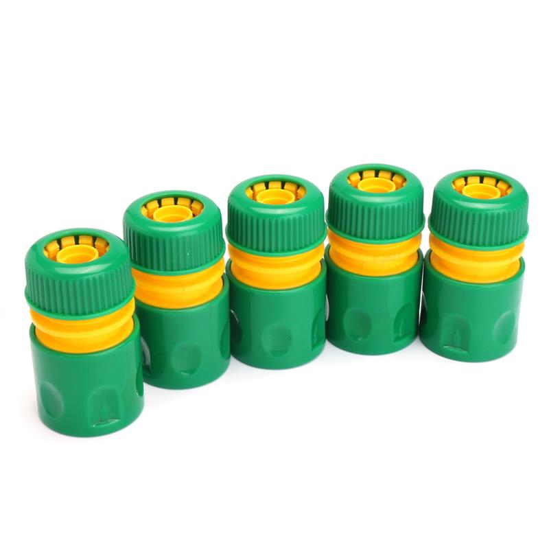 "Hot Sale 31mm 1/2"" Hose Pipe Fitting Set Quick Yellow Water Connector Adaptor Garden Lawn Tap Water Pipe Connector10Pcs