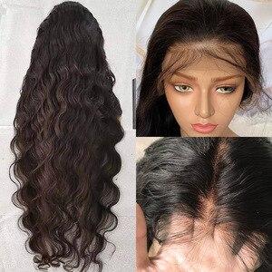 Image 3 - Rosabeauty 28 30 אינץ 13x4 תחרה מול שיער טבעי פאות 180 צפיפות ברזילאי גוף גל פרונטאלית פאה שחור נשים מראש קטף