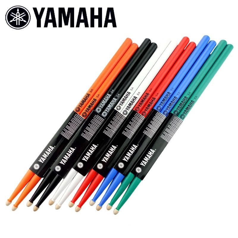 Drum-Sticks Professional YAMAHA 7A 5A for Beginners Multi-Colors Maple