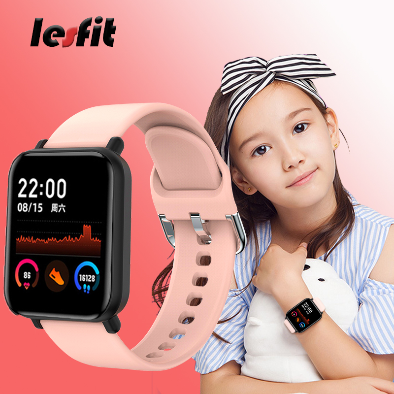 Lesfit Kid Smart Watch Boy Girl Waterproof Bluetooth Smartwatch Smart-watch Sport Android Electronic Clock Child Age 3-18 Year