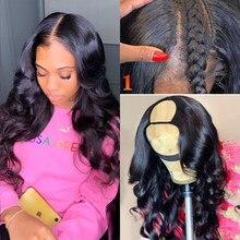 Волнистые человеческие волосы u-образные парики для черных женщин короткие человеческие волосы парик бразильские волосы 2