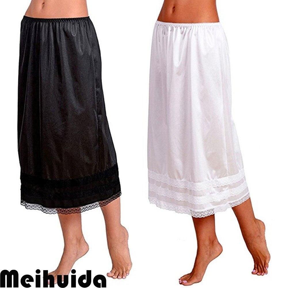 Women's Anti Static Smooth Half Slip Skirt