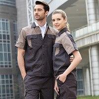 Arbeit arbeitskleidung kleidung für männer frauen overalls für arbeiter arbeit uniform auto werkstatt arbeit anzug baumwolle mechanische ANZÜGE