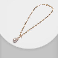 XL30726-i23 Amorita boutique trendy women long chain natural pearl necklace
