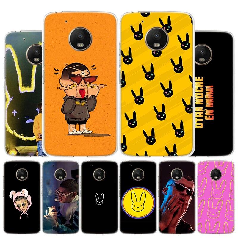 Bad Bunny El Conejo Malo Phone Case For Motorola Moto G8 G7 G6 G5S G5 G4 E6 E5 E4 Plus Play Power One Action X4 Cover Coque