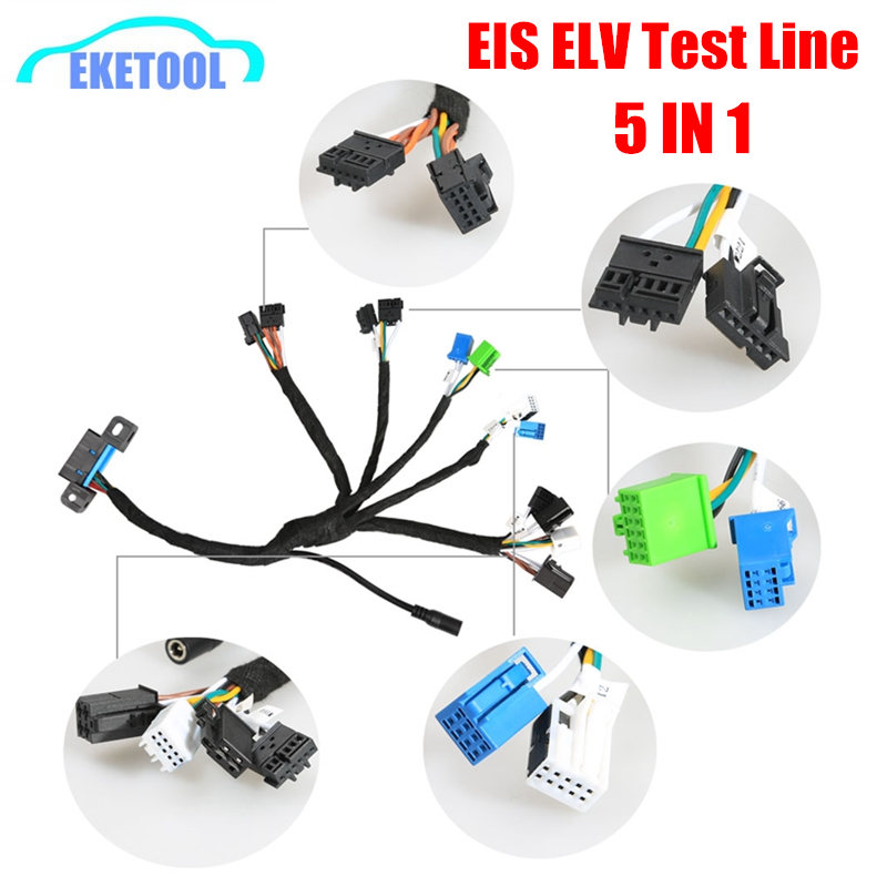 EIS ELV Test Cables Line Supports For Mercedes Works With VVDI MB BGA TOOL CGDI Prog MB (5-in-1) With Dashboard Connector