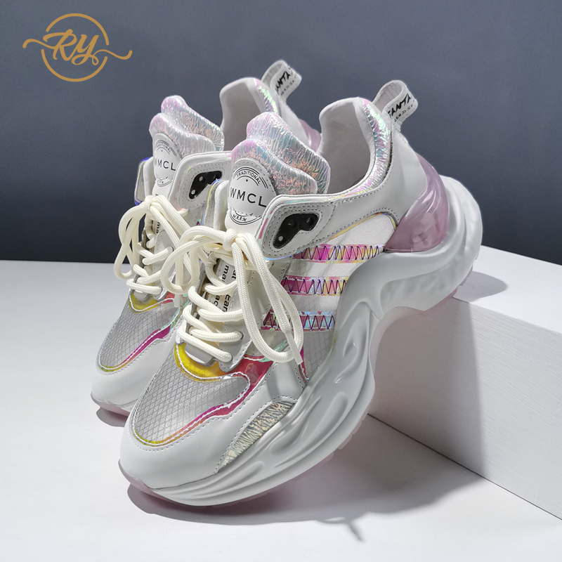 RY-RELAA womens sneakers shoes 2018 fashion Genuine Leather wedge sneakers INS off white shoes luxury shoes women running shoes