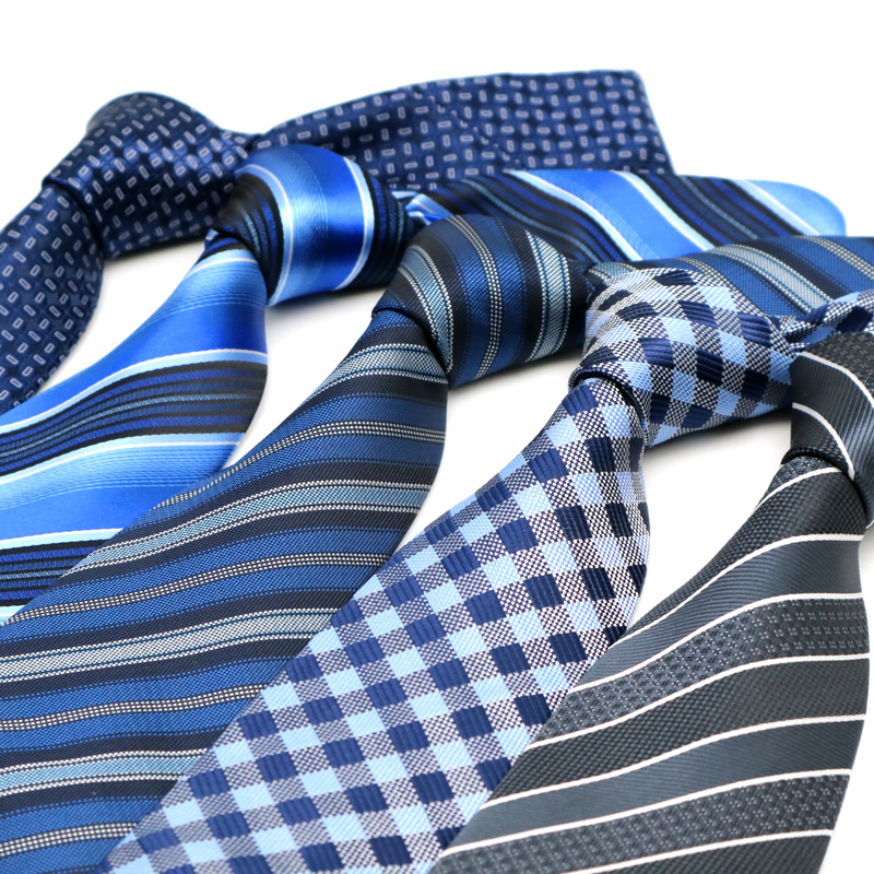YISHLINE 2020 Luxury 8CM  Mens Tie New Stripes Designer Man Neck Ties Jacquard Neckwear Bridegroom Wedding Tie Men Accessories