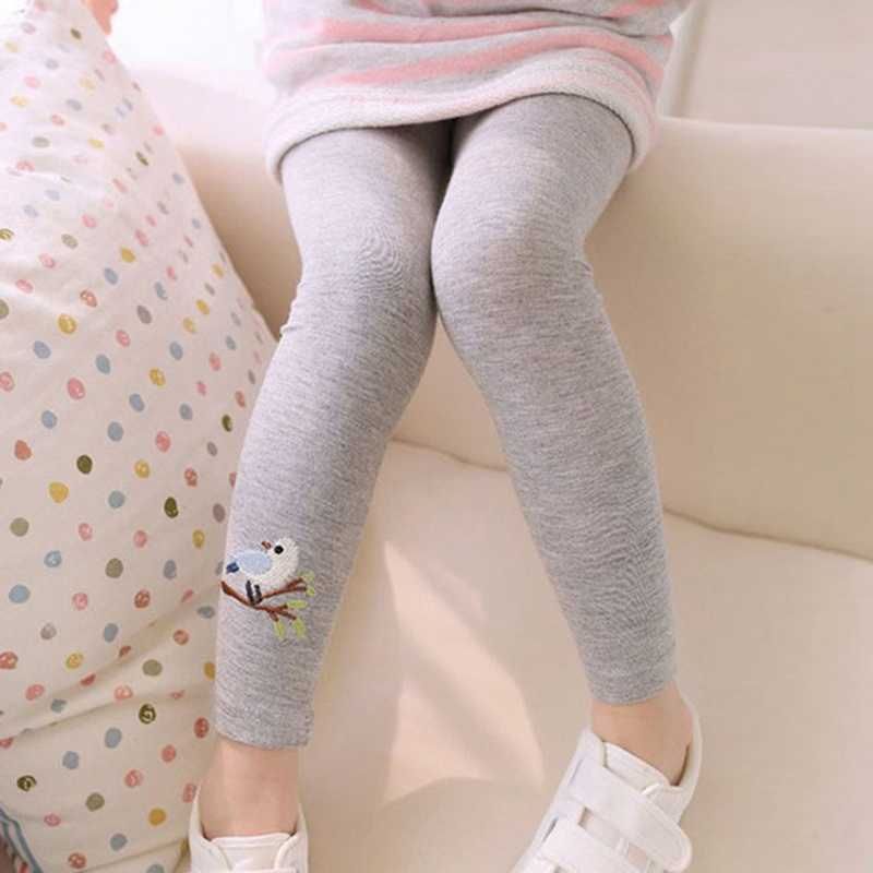 Spring Autumn Kids Cute Bird Print Trousers Baby Girls Legging Toddler Girl Skinny Pencil Pants Infant Elastic Stretchy Leggings