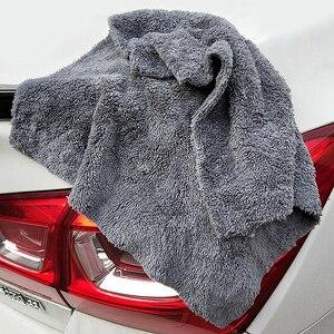 Image 5 - 12 個 350GSM 超厚 Edgeless マイクロファイバータオルカークリーニング自動洗車ワックスがけ乾燥研磨ディテールタオル