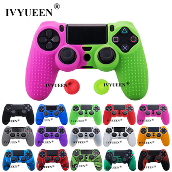 IVYUEEN Studded Silicone Cover Skin Case for Sony PlayStation 4 PS4 Pro Slim Controller Gamepad with 2 Thumb Grips Caps - discount item  30% OFF Games & Accessories