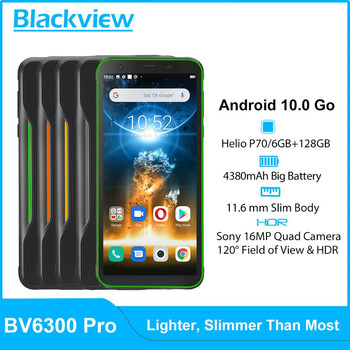 Купить Blackview BV6300 Pro смартфон с восьмиядерным процессором Helio P70, ОЗУ 6 ГБ, ПЗУ 128 ГБ, Android 10,0, 4380 мАч