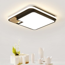 Creative Square Wood Ceiling Light Surface Mounted Led Lamp Luminaire For Living Room Bedroom Hall Modern Home Decor