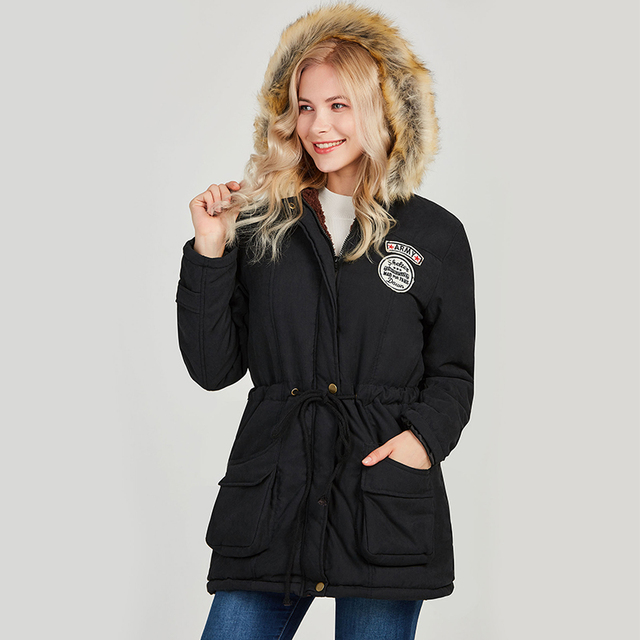 Ailegogo 2021 New Parkas Women Winter Coat Thickening Cotton Winter Jacket Womens Outwear Parkas For Female 4