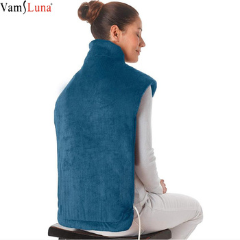 Almohadilla calefactora de salud, de franela, para cuello, hombros, espalda, músculos, masajeador con calor envolvente, lavable, mantiene el calor, masajeador