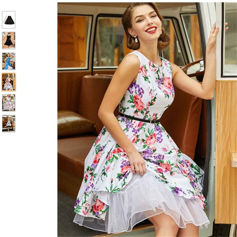 Vintage Dress Women 2020 Summer Sexy Polka Dot Print Halter Party Dresses Vestidos Plus Size Robe Pin Up Rockabilly Dress