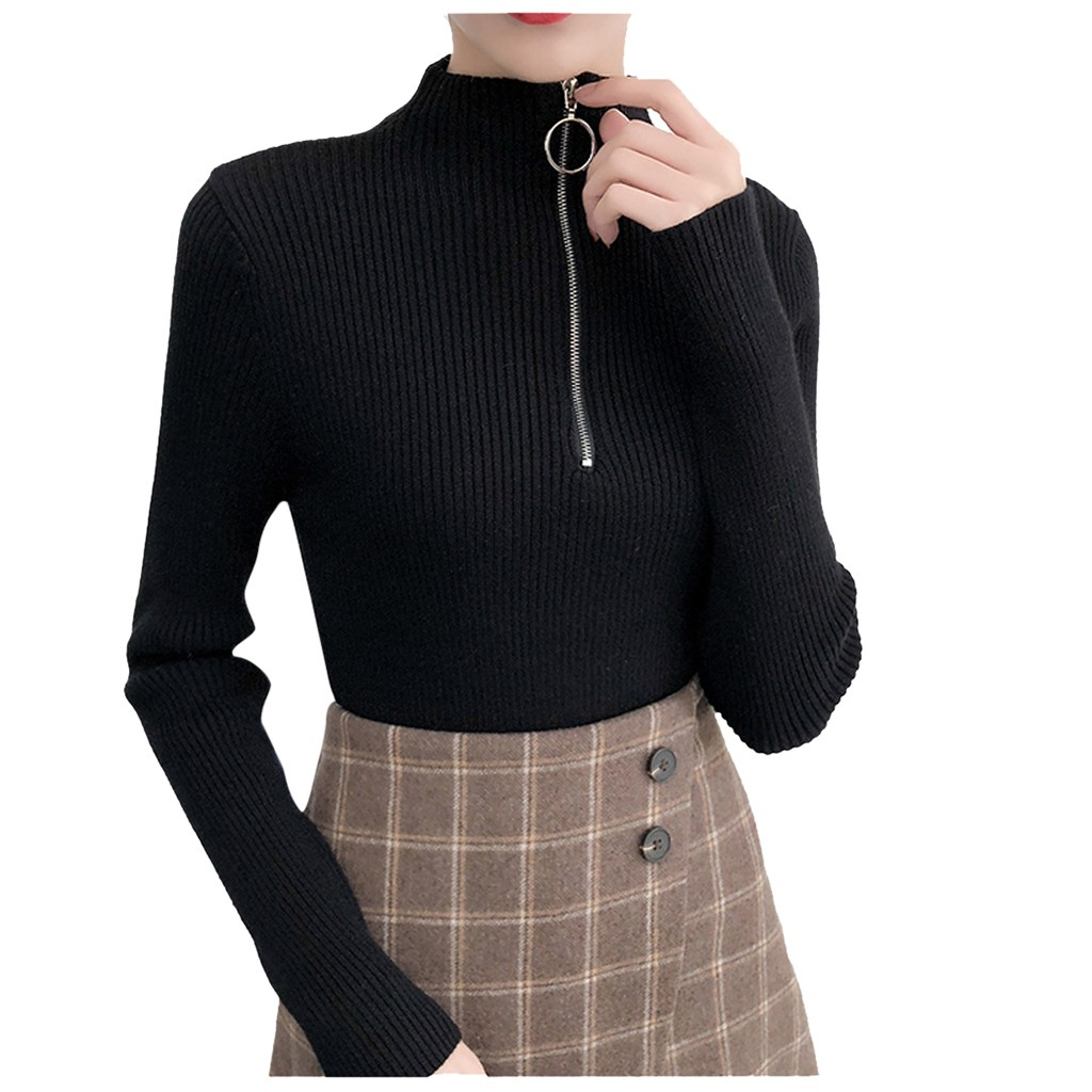 Ladies Tops And Blouses 2019 Striped Elastic Long-sleeved Knit Bottoming Shirt Cotton Ladies Blusas #YL5