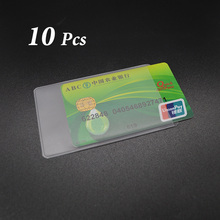Waterproof Pvc Id Credit Card Holder Silicone Plastic Card Protector Case To Protect Credit Cards Bank Cardholder Id Card Cover plastic pvc clear pouch name id credit card holder case organizer keeper pocket
