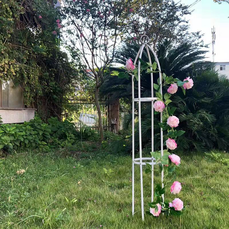 Column Flower Stand Climbing Vine Gardening Support Plant Climbing Frame Wrought Iron Pillar Indoor And Outdoor Grape Climbing