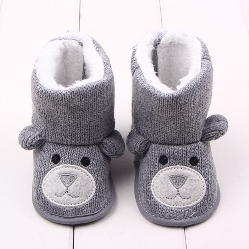 Baby Winter Boots Infant Toddler Newborn Cute Cartoon Shoes Girls Boys First Walkers Warm Snowfield Booties Boot