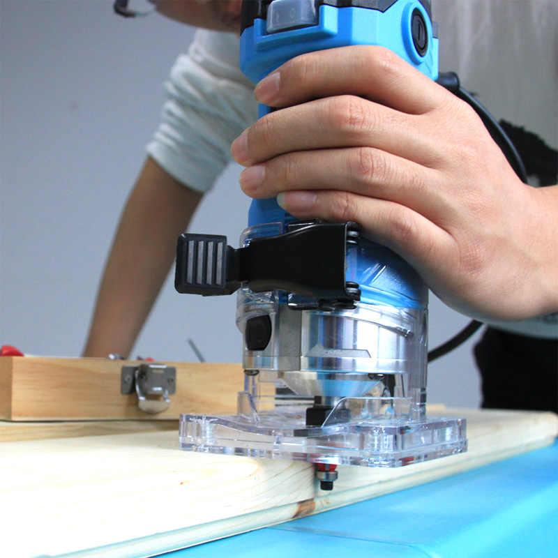 TASP 600W électrique stratifié bord coupe Mini bois routeur 6.35mm pince sculpture Machine menuiserie bois outils électriques