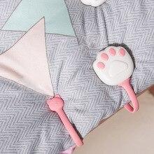 Quilt-Cover Clips Fasten-Holder Sheet-Clamps Mattress Bed-Sheet Cute 4pcs Buckle Paw-Shape