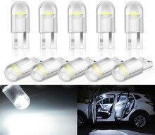 10Pcs T10 LED W5W WY5W COB LED Car Wedge Parking Light Bulbs FOR VW Golf 5 6 7 Jetta MK5 MK6 MK7 CC Tiguan Passat B6 b7 Scirocco