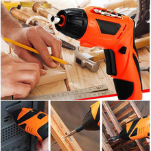цена на Electric Screwdriver Cordless Drill Lithium Battery Screwdriver Multifunctional USB Rechargeable Hand Drill With LED Light