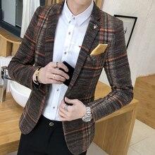 Men's Blazer Slim Design Korean Style Elegant Men's Blazer Comfortable Quality Masculino Button Wedding Casual Men's Blazer