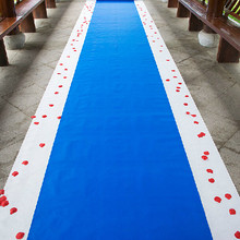 20 Meters/roll Royal blue Wedding Theme Nonwoven Fabric Carpet Aisle Runner For Wedding Party Decoration Supplies Free Shipping(China)