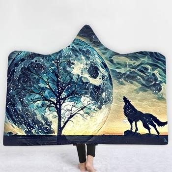 Wolf Hooded Blanket 1