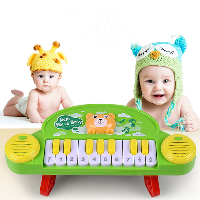 Music Unisex Piano Music Toy Multicolor Early Education Sensory Toy Kids Learning Piano Instruments For Children Gift Infant Toy