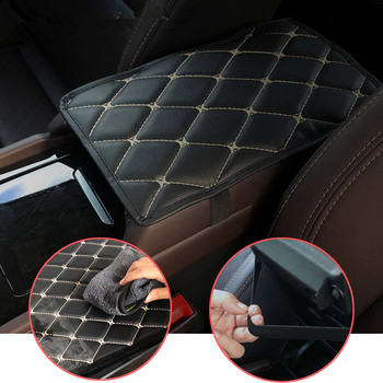 Car Armrest Mat Auto Armrests Mats Cushion Cover Pad for Toyota FJ Cruiser RAV4 CROWN REIZ PRIUS COROLLA VIOS LAND CRUISER PRADO image
