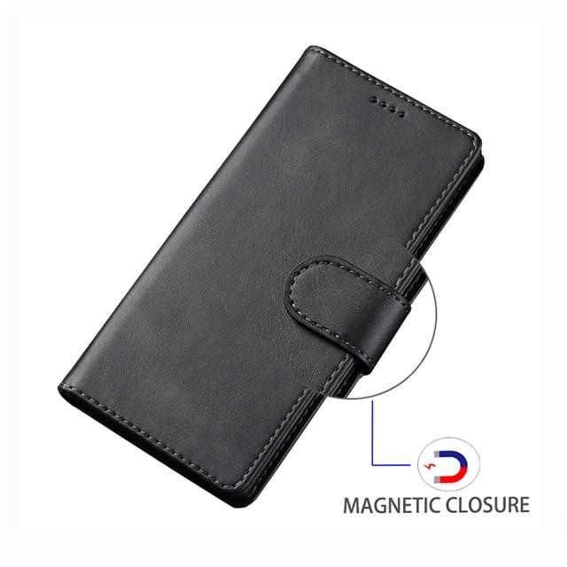 Stojak obudowa do xiaomi Redmi 7 7A pokrowiec magnetyczny etui flip wallet luksus w stylu Vintage zwykły skórzany woreczek na telefon na xiaomi Redmi 7 Coque