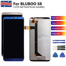 """100% اختبار ل Bluboo S8 شاشة الكريستال السائل و مجموعة المحولات الرقمية لشاشة تعمل بلمس استبدال ل 5.7 """"Bluboo s8 هاتف محمول أجزاء أدوات"""