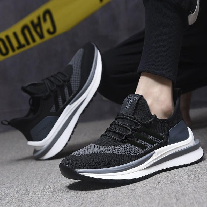 Мужская весенняя обувь летающие тканые дышащие мужские спортивные туфли трендовые повседневные кроссовки Новая мужская обувь кроссовки