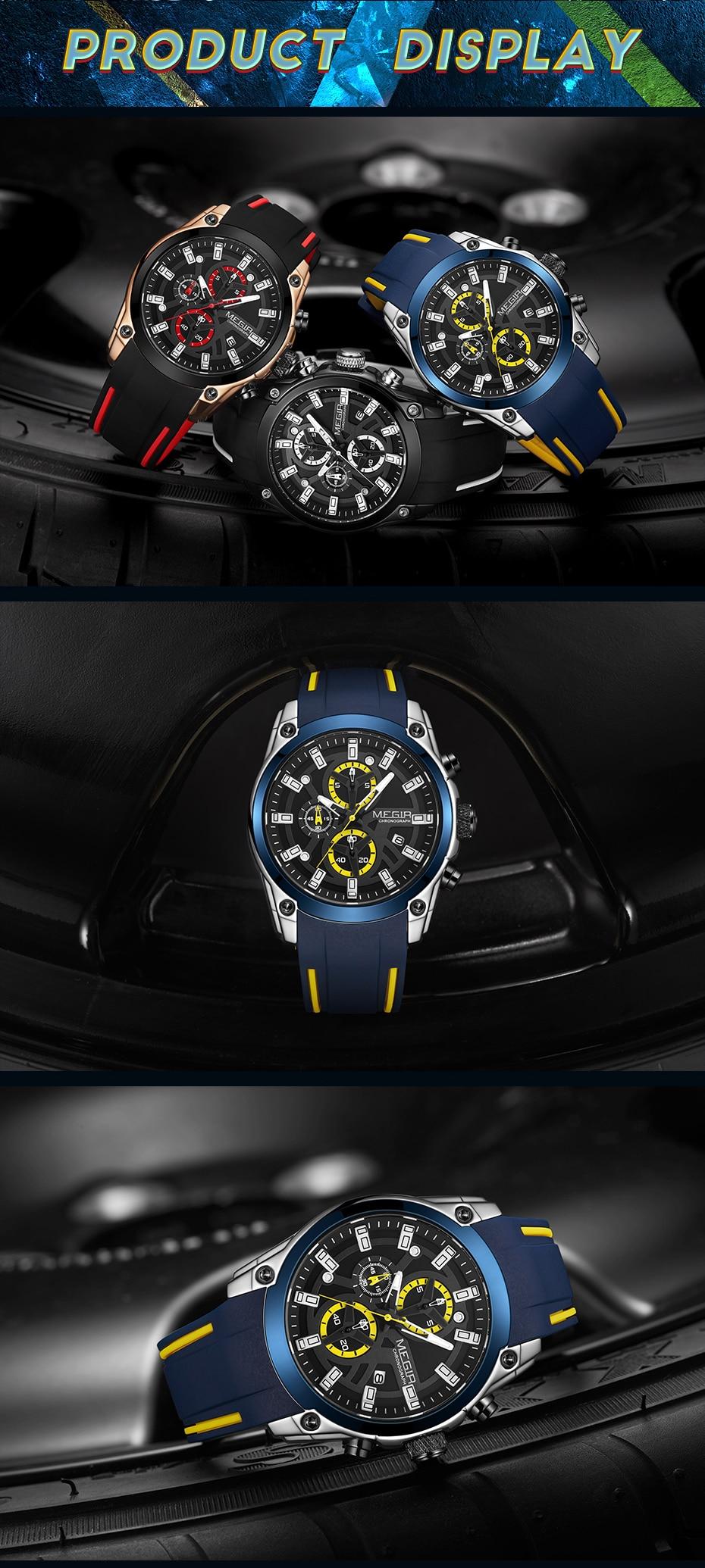 He8eb2fd0dce44438b06d86617843c6c5d MEGIR 2020 Blue Sport Watches for Men