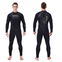 Full body Wetsuit Men Thicken 5mm Neoprene Fleece Inside Keep Warm For Cold Water Swimming Diving Suit Spearfishing Plus Size