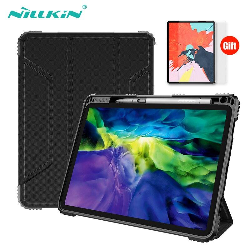 Чехол NILLKIN для iPad Pro 11, чехол 2018, 2020 дюйма, магнитный чехол-подставка из искусственной кожи с функцией автоматического сна/пробуждения, удароп...
