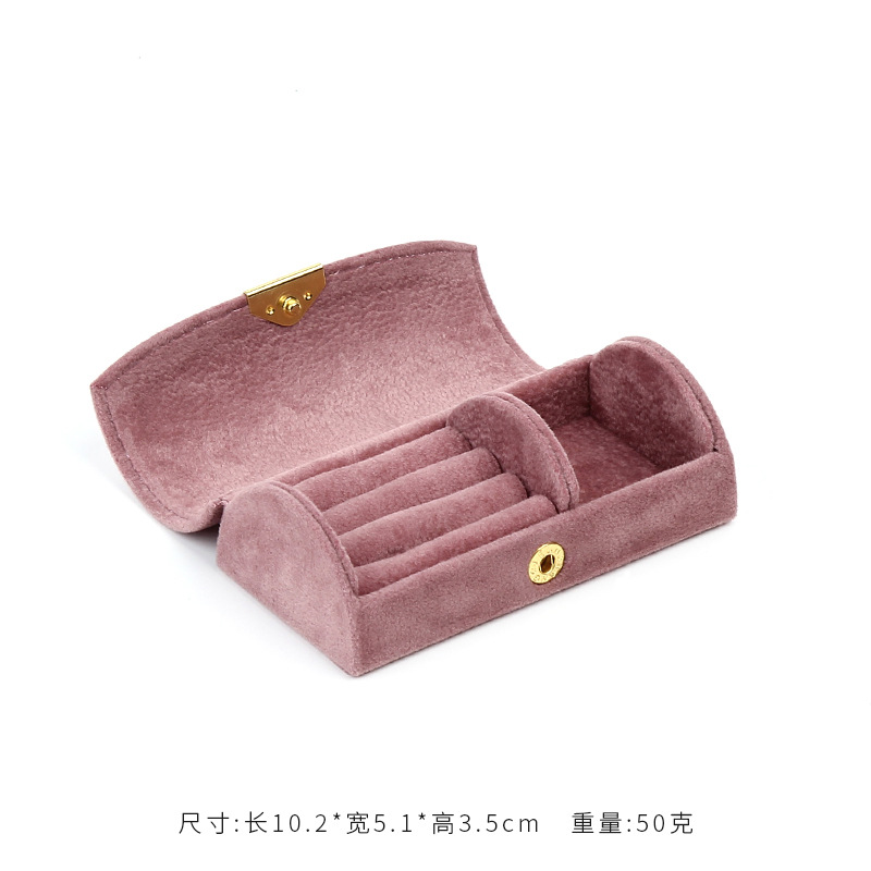 New 2020 Fashion Portable Velvet Jewelry Box Jewel Case 3 Colors Ring Holder