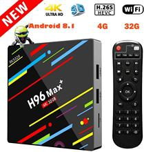Android 9 0 TV BOX H96 MAX PLUS optional air mouse RK3328 Quad Core 4GB DDR3 64GB EMMC WiFi 2 4G 5G KDMC18 0 cheap JKING 1000M Rockchip RK3328 Quad-core 16GB eMMC HDMI 2 0 Quad-core Mali-450 2G DDR3