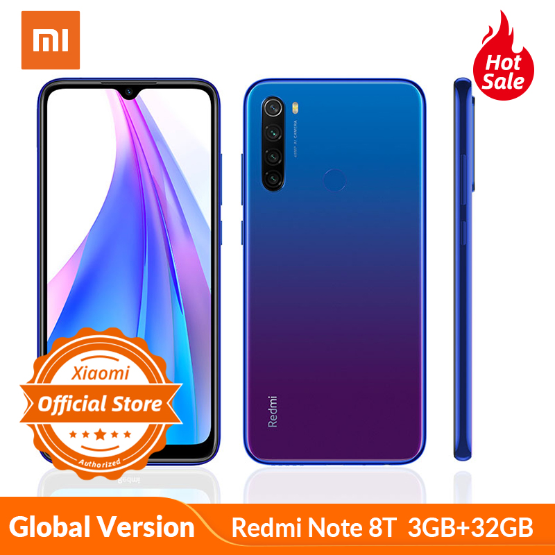 Xiaomi Redmi Note 8 T Note 8T Global Version 3GB 32GB Smartphone 48MP AI Quad Camera Snapdragon 665 NFC 4000mAh 18W Fast Charge