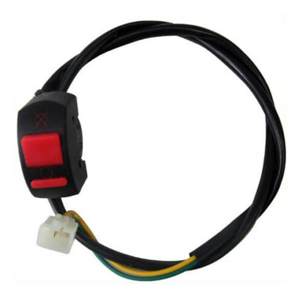 Motorcycle Atv <font><b>Bike</b></font> <font><b>Handlebar</b></font> Kill Stop <font><b>Switch</b></font> On Off Button Connector Waterproof Design Multiple Protection image