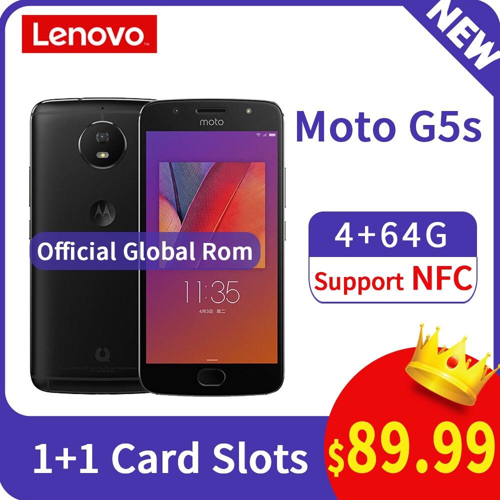 Rom global moto g5s 4 gb 64 gb função do telefone móvel nfc núcleo octa 3000 mah 5.2 Polegada tela 1920x1080 frente traseira 16mp fhd câmera