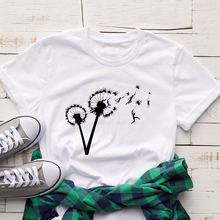 Модная Эстетическая Футболка женская футболка с принтом летающих