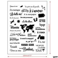 Drop Schiff Französisch Transparent Klar Silikon Stempel Dichtung Für DIY Scrapbooking Foto Album|Stempel|Heim und Garten -