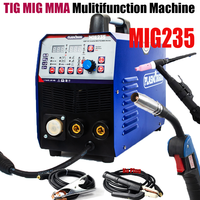 Plasmargon 110/220V TIG / MMA / MIG 3IN1 Combo Welding Machine Multi Function Welding Device& Torchs,Blue machine